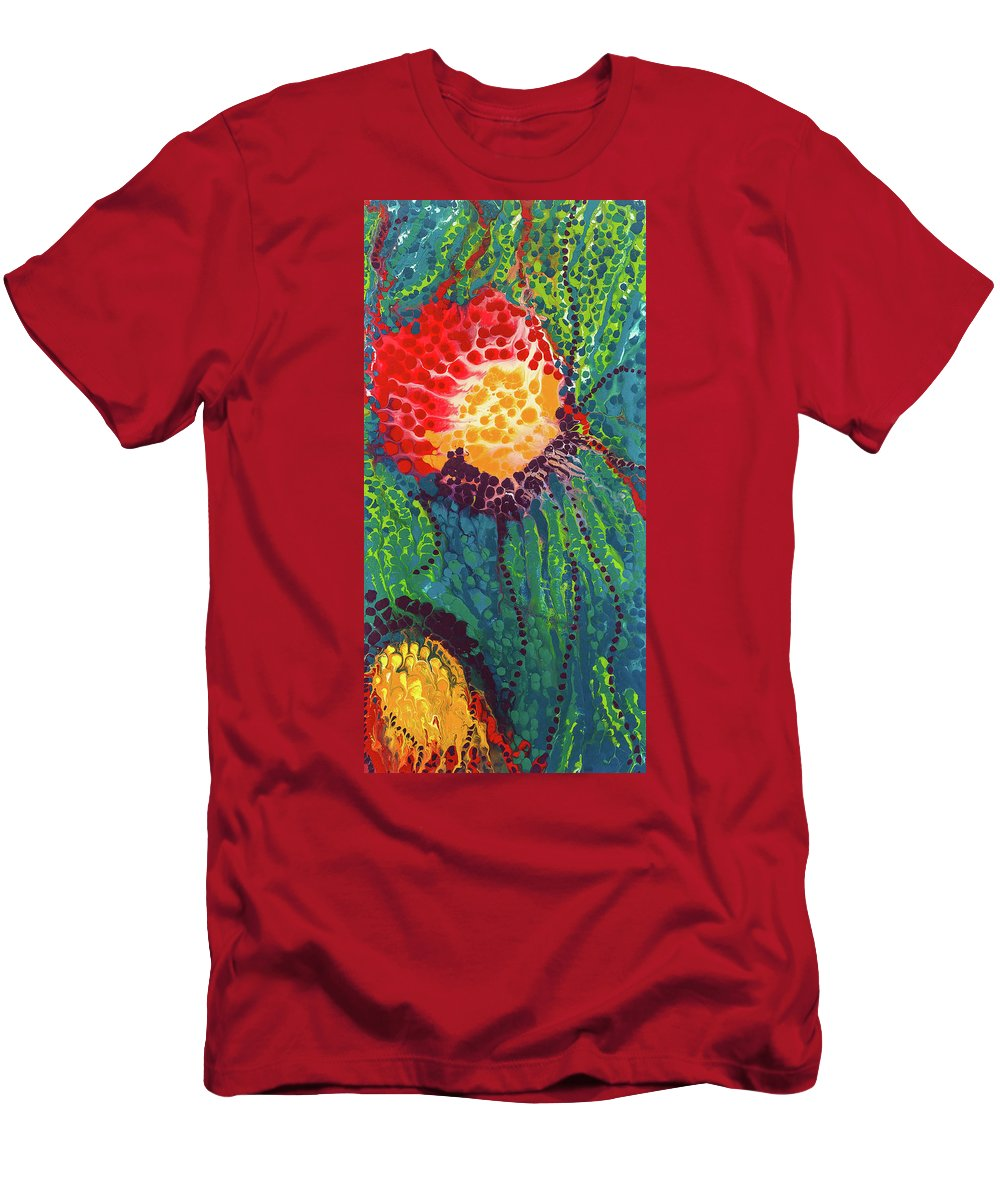 Abstract Men's T-Shirt (Athletic Fit) featuring the painting Candid Burst by Dianne Bartlett