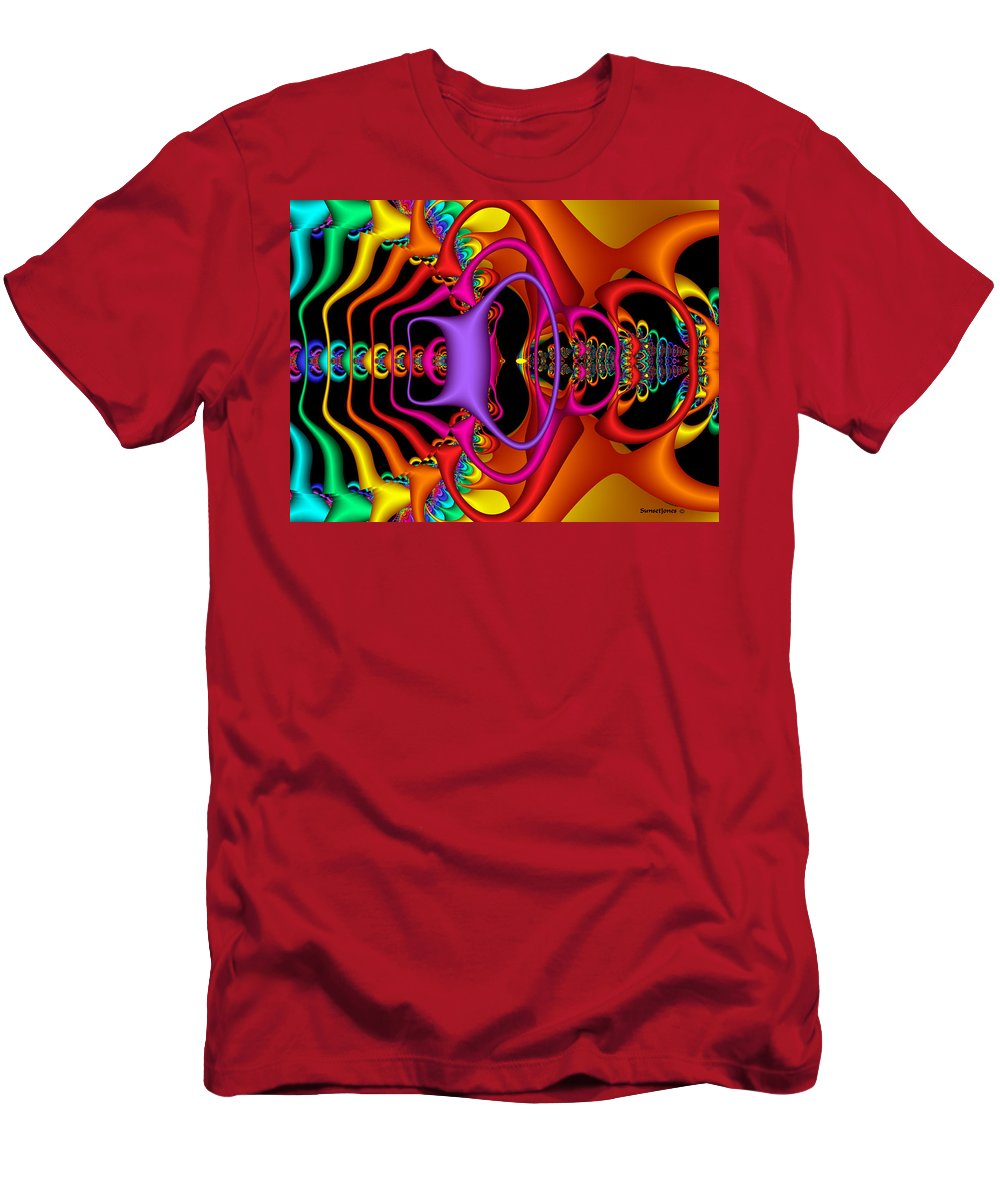 Colorful Men's T-Shirt (Athletic Fit) featuring the digital art Candy by Robert Orinski