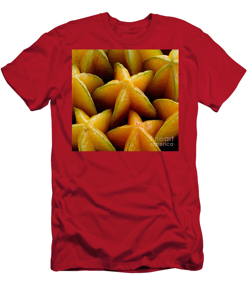 Caranbola Men's T-Shirt (Athletic Fit) featuring the photograph Carambola by Dragica Micki Fortuna