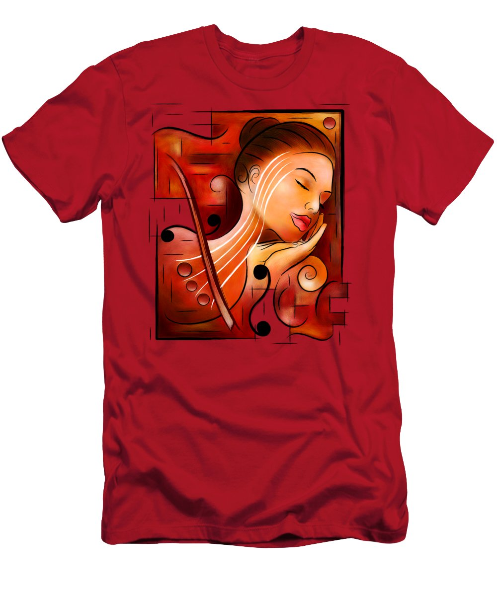 Dream Men's T-Shirt (Athletic Fit) featuring the digital art Casselopia - Violin Dream by Cersatti