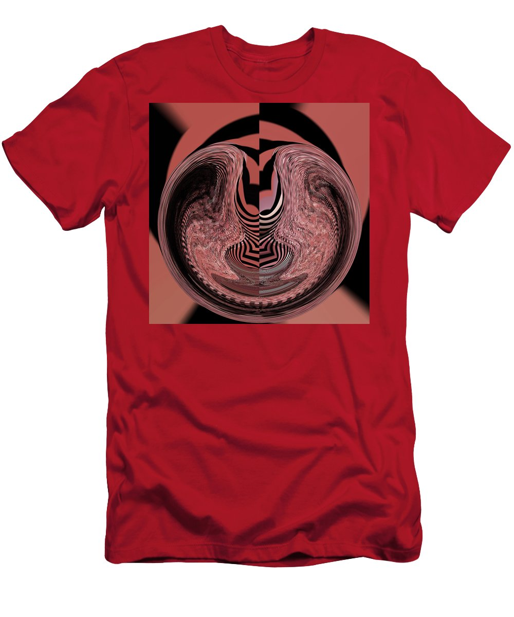 Abstract Men's T-Shirt (Athletic Fit) featuring the digital art Cat Hiding by Lenore Senior