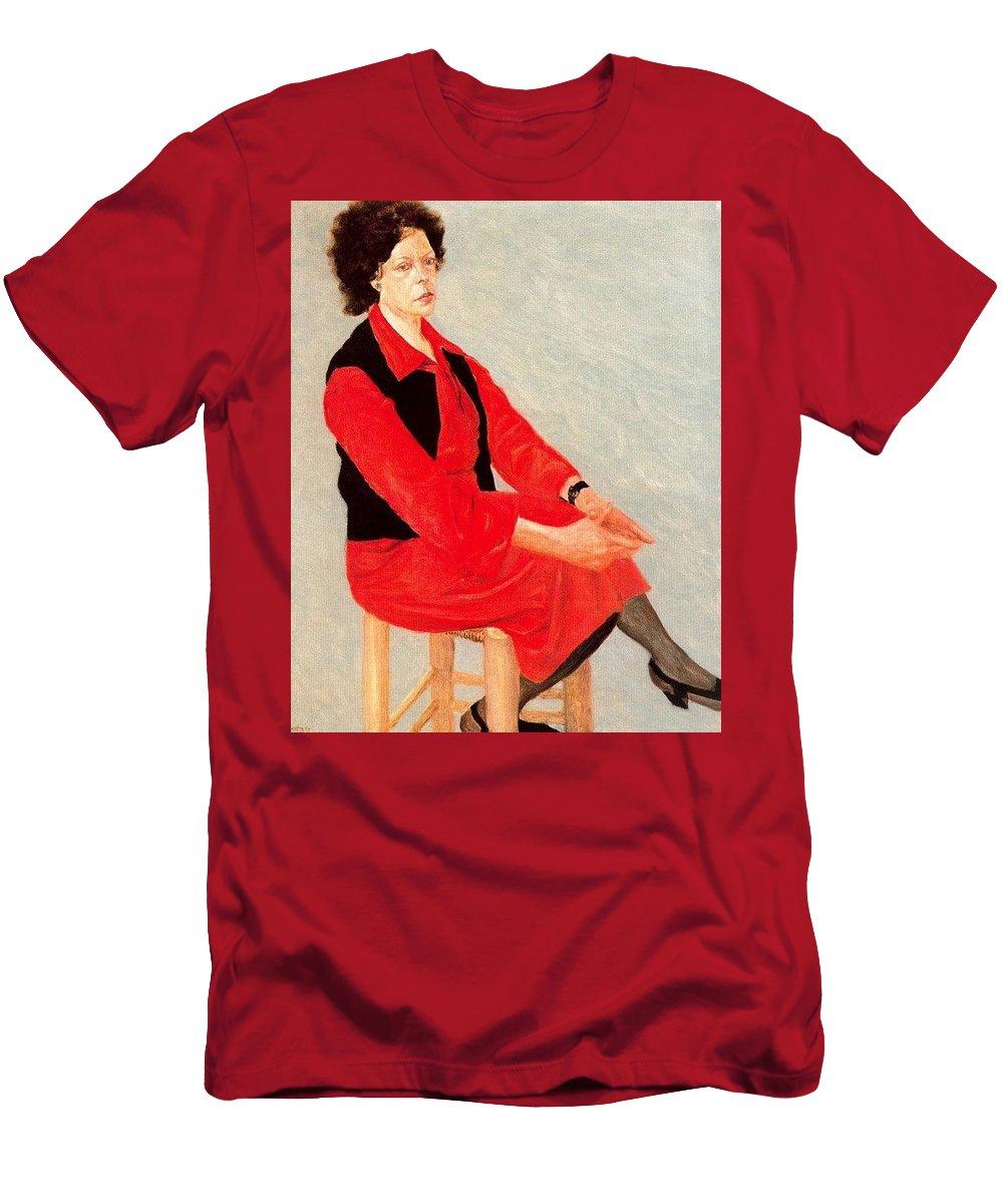 Clothing Men's T-Shirt (Athletic Fit) featuring the digital art Cawpq3cp Avigdor Arikha by Eloisa Mannion