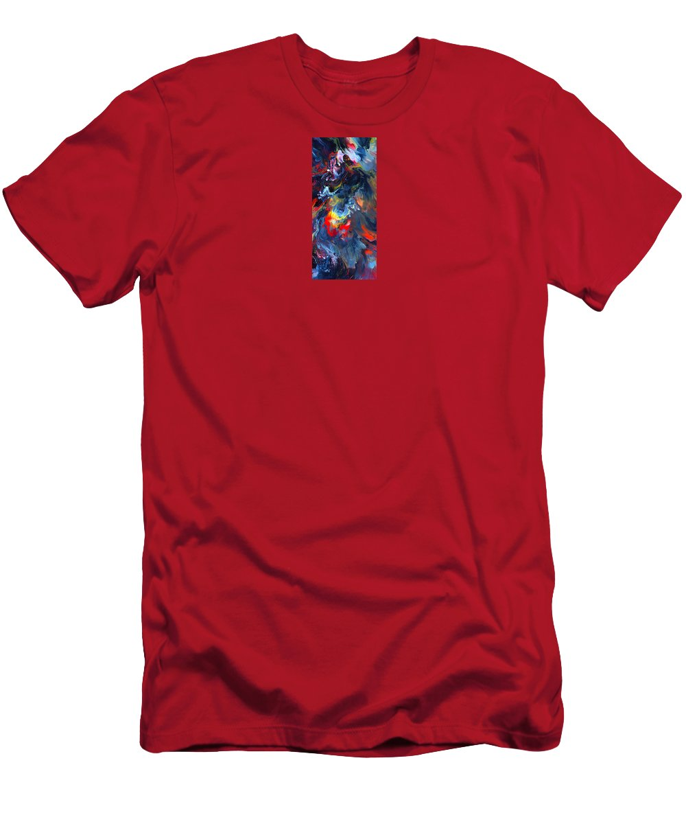 Abstract Art Print Men's T-Shirt (Athletic Fit) featuring the painting Cc191 by John Kohn