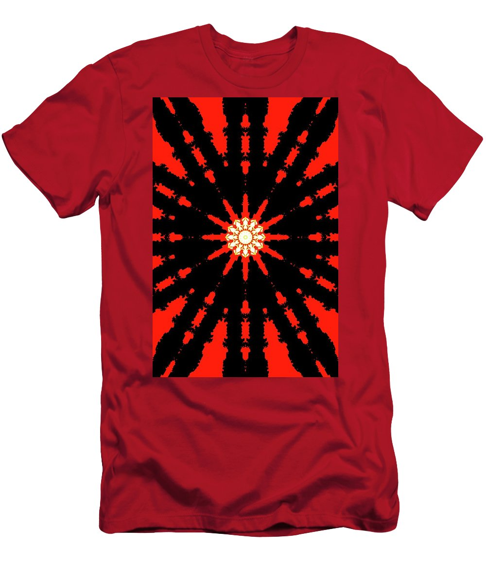 Abstract Men's T-Shirt (Athletic Fit) featuring the digital art Centerpiece Twelve by Lyle Crump