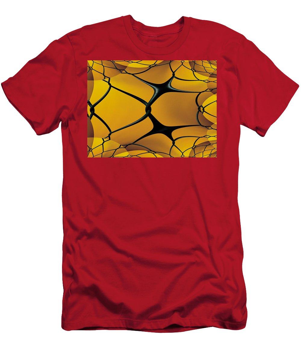 Chain Link Men's T-Shirt (Athletic Fit) featuring the photograph Chain Link Fractal by Tim Allen
