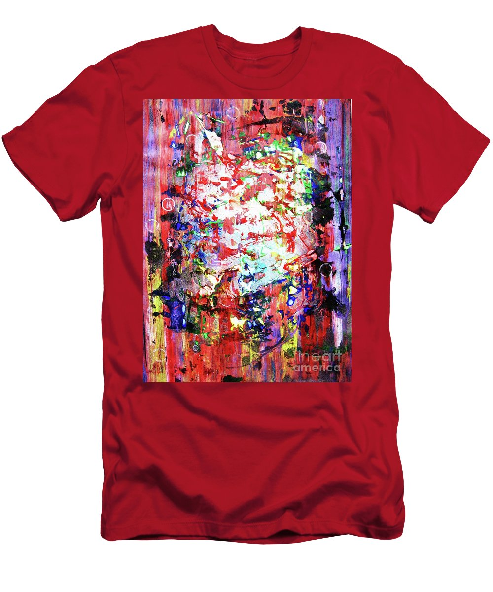 Abstraction Men's T-Shirt (Athletic Fit) featuring the painting Charivari by Roberto Prusso