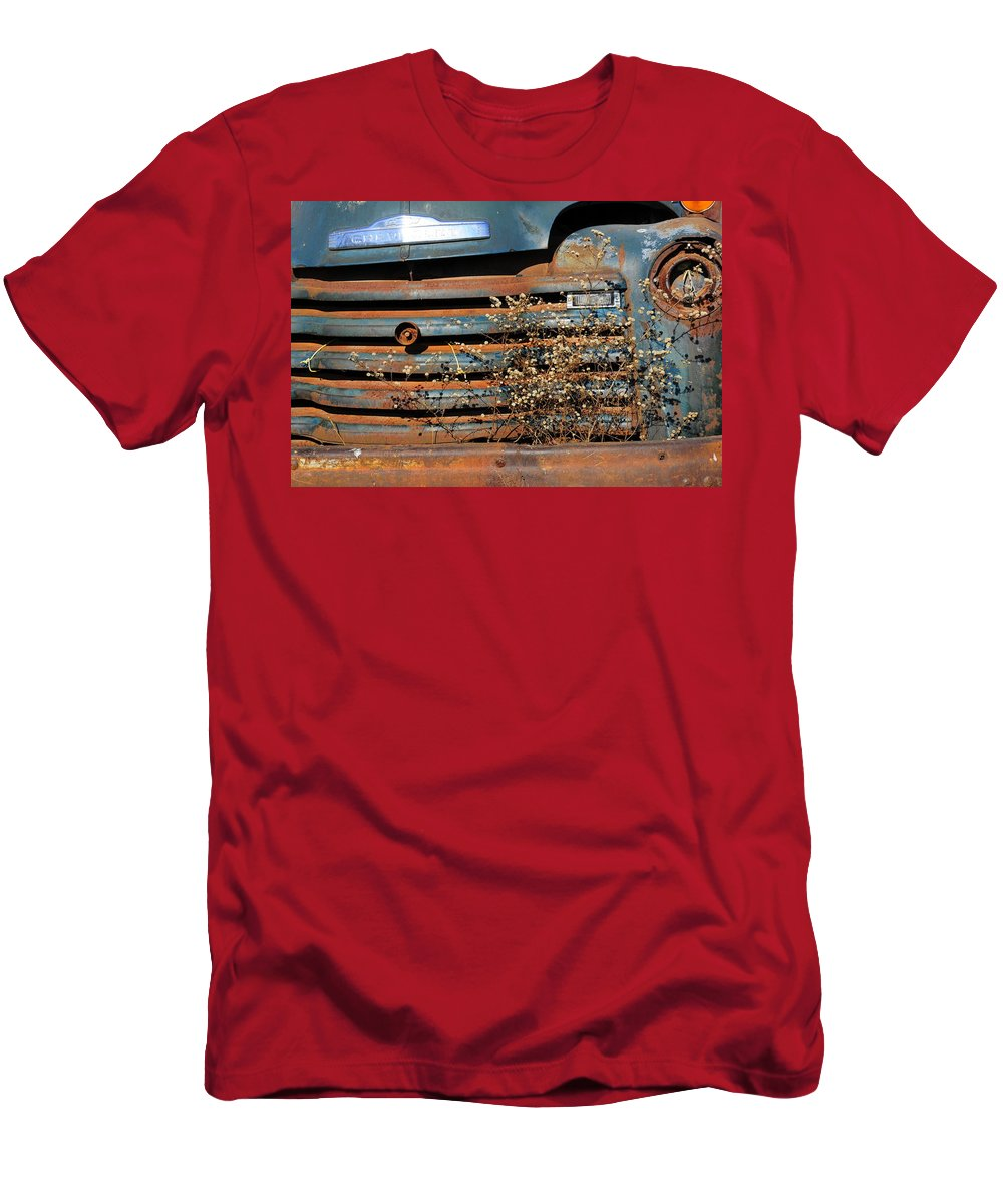 Truck Men's T-Shirt (Athletic Fit) featuring the photograph Chevy Truck by David Arment