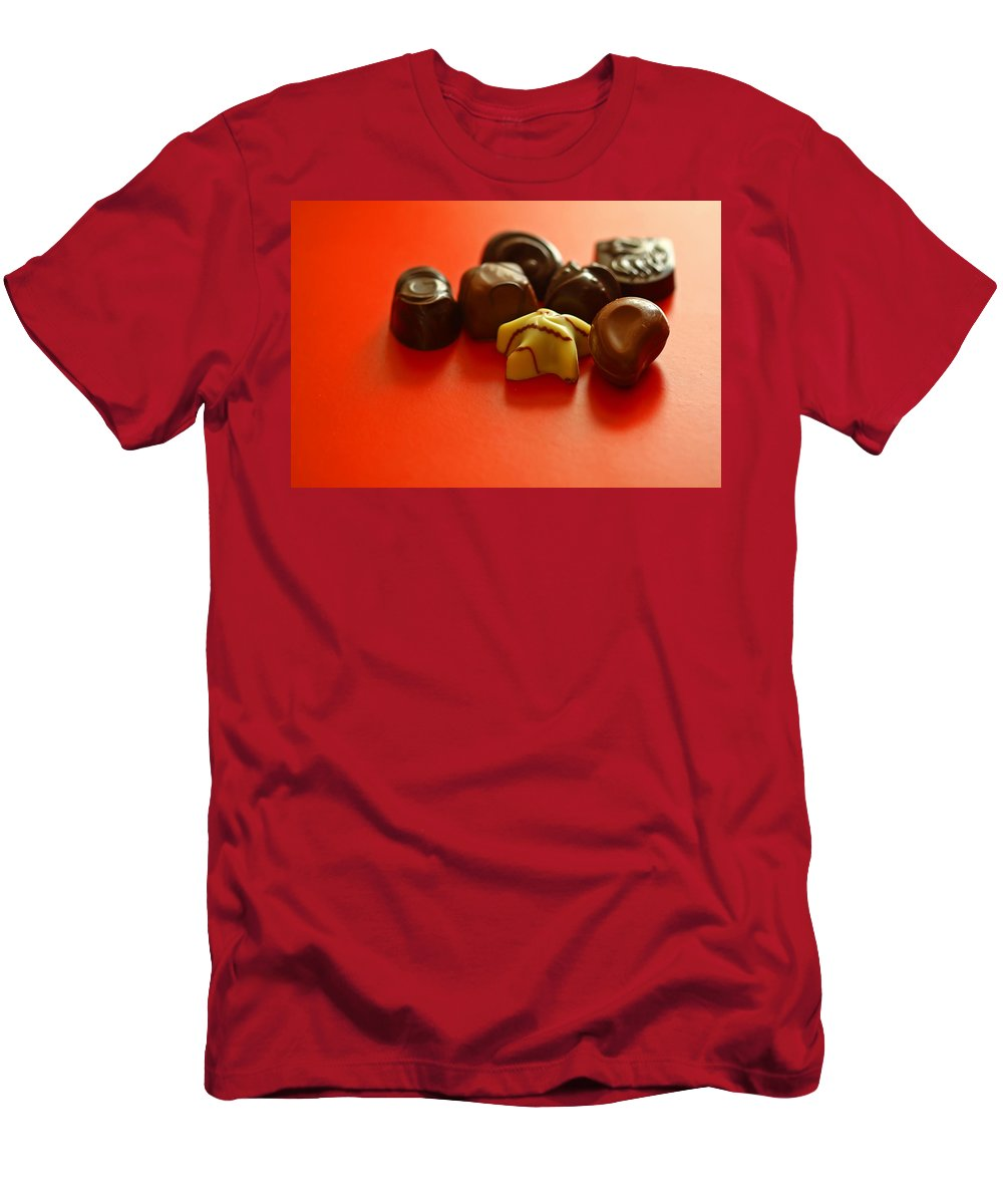 Still Life Men's T-Shirt (Athletic Fit) featuring the photograph Chocolate Delight by Evelina Kremsdorf