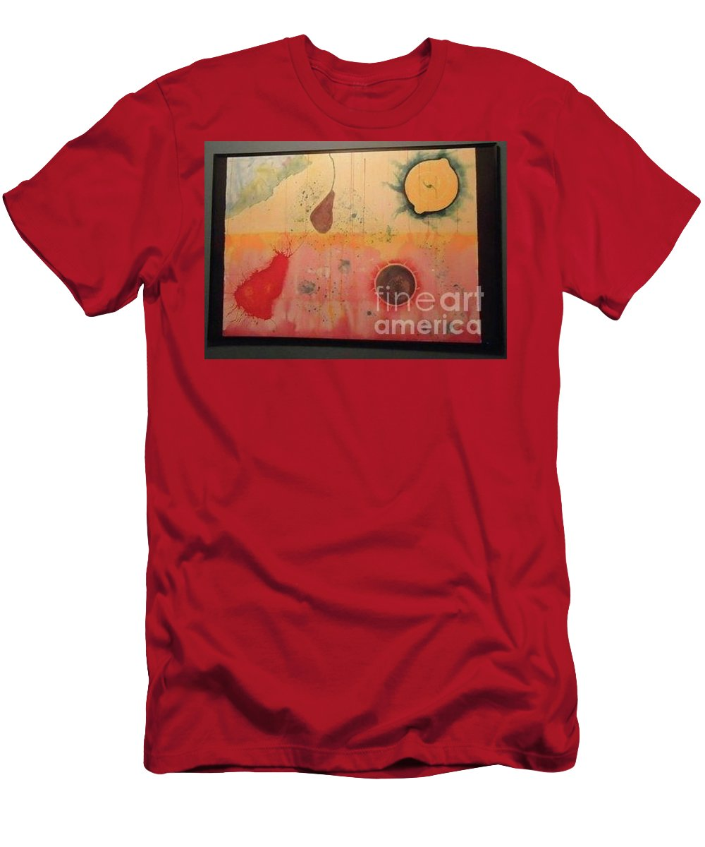Planet Men's T-Shirt (Athletic Fit) featuring the painting Choking by Xn Tyler