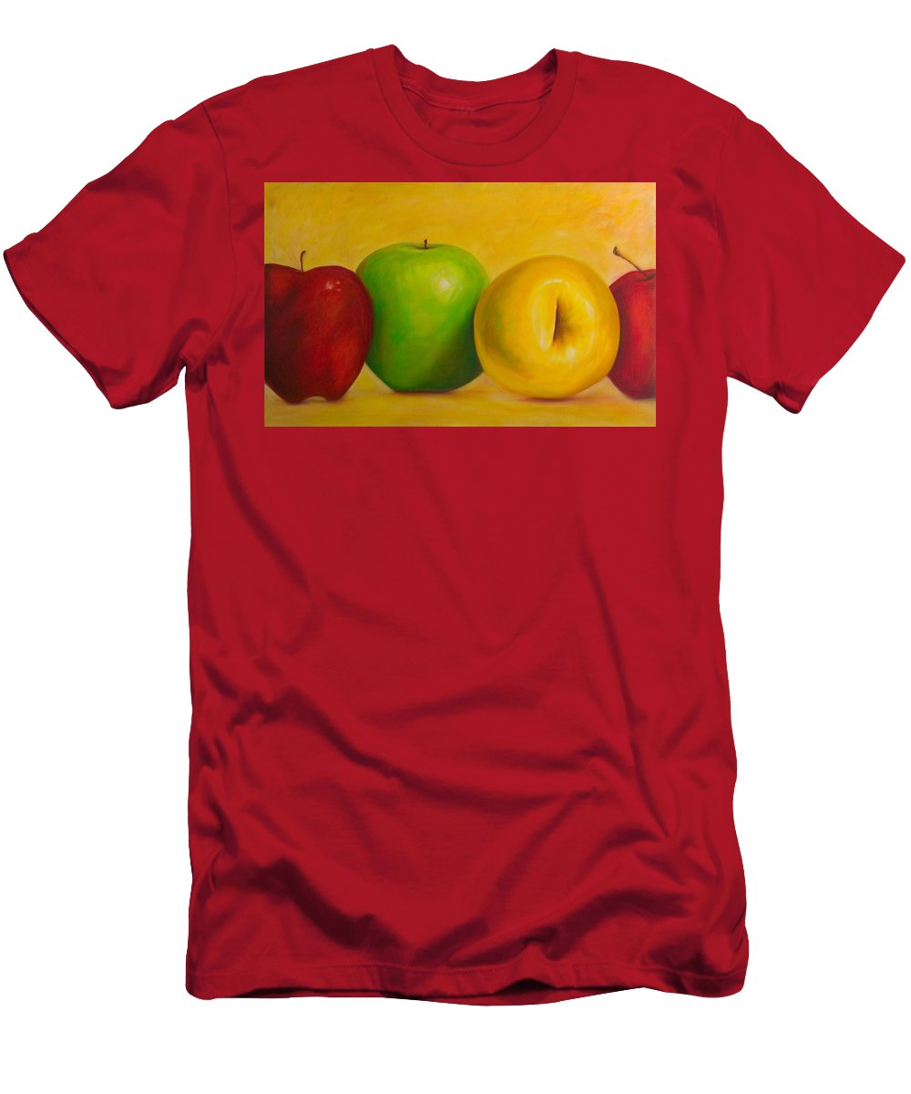 Still Life Men's T-Shirt (Athletic Fit) featuring the painting Chorus Line by Shannon Grissom