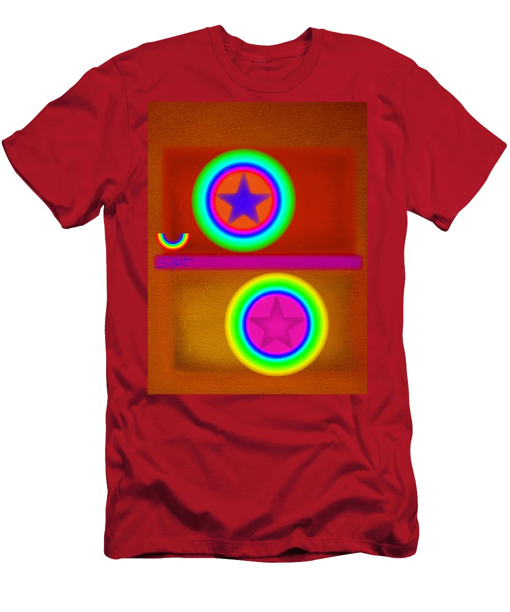 Balance Men's T-Shirt (Athletic Fit) featuring the painting Circus Balls by Charles Stuart