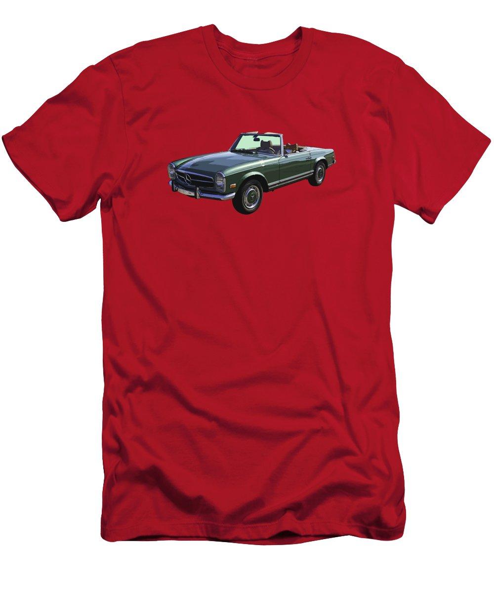 Classic mercedes benz 280 sl convertible automobile t for Mercedes benz t shirts sale