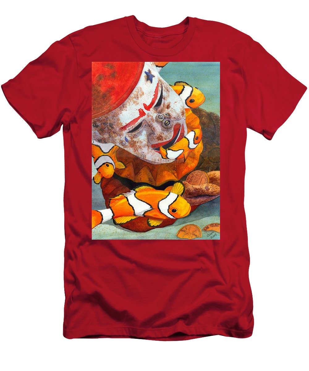 Clown Men's T-Shirt (Athletic Fit) featuring the painting Clown Fish by Catherine G McElroy