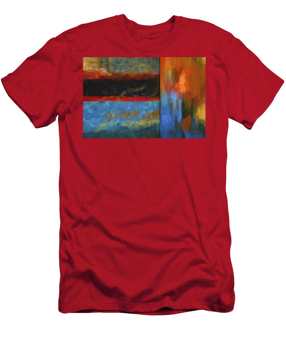 Abstract Men's T-Shirt (Athletic Fit) featuring the digital art Color Abstraction Li by David Gordon
