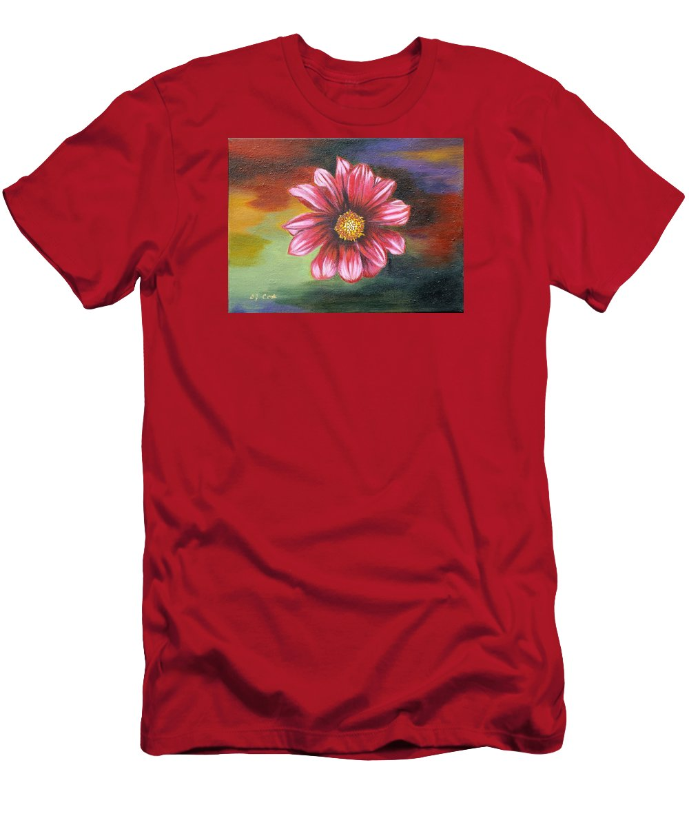 Daisy Men's T-Shirt (Athletic Fit) featuring the painting Color Explosion by Donna Cook