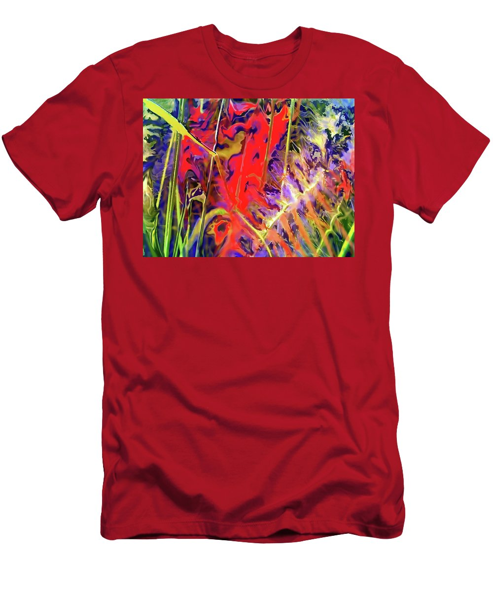 Abstract Men's T-Shirt (Athletic Fit) featuring the digital art Color Explosion by Ian MacDonald
