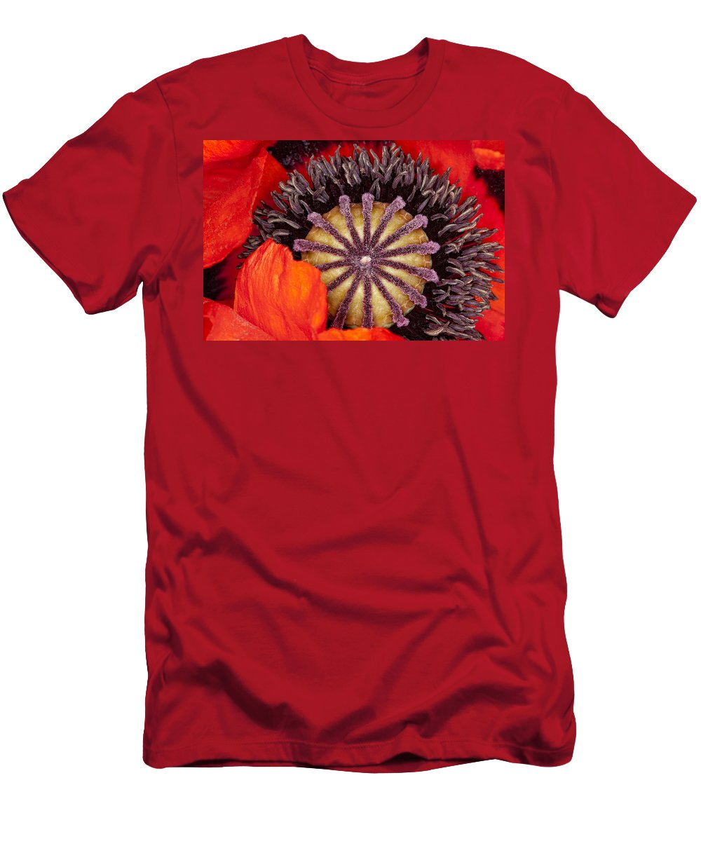 Flower Men's T-Shirt (Athletic Fit) featuring the photograph Colorful Bloom by Janet Fikar