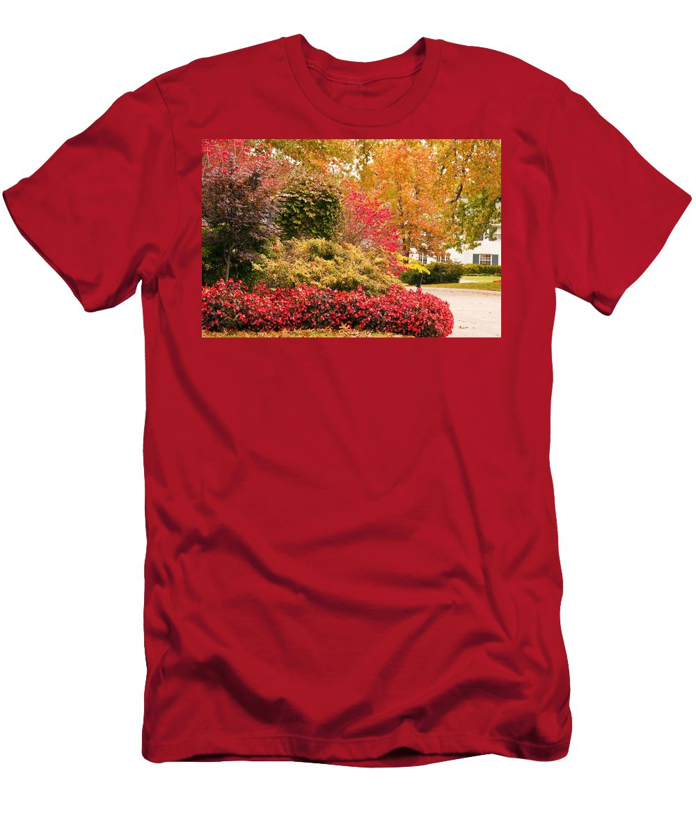 Colors Of Autumn Men's T-Shirt (Athletic Fit) featuring the photograph Colors Of Autumn by Terry Anderson