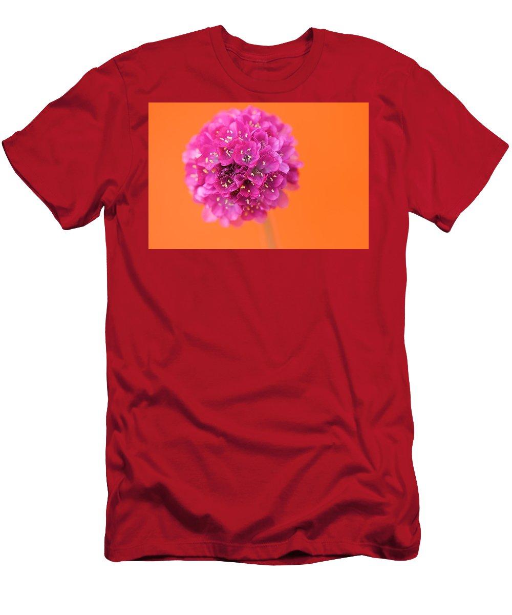 Orange Men's T-Shirt (Athletic Fit) featuring the photograph Comic Book Colour by Lisa Knechtel
