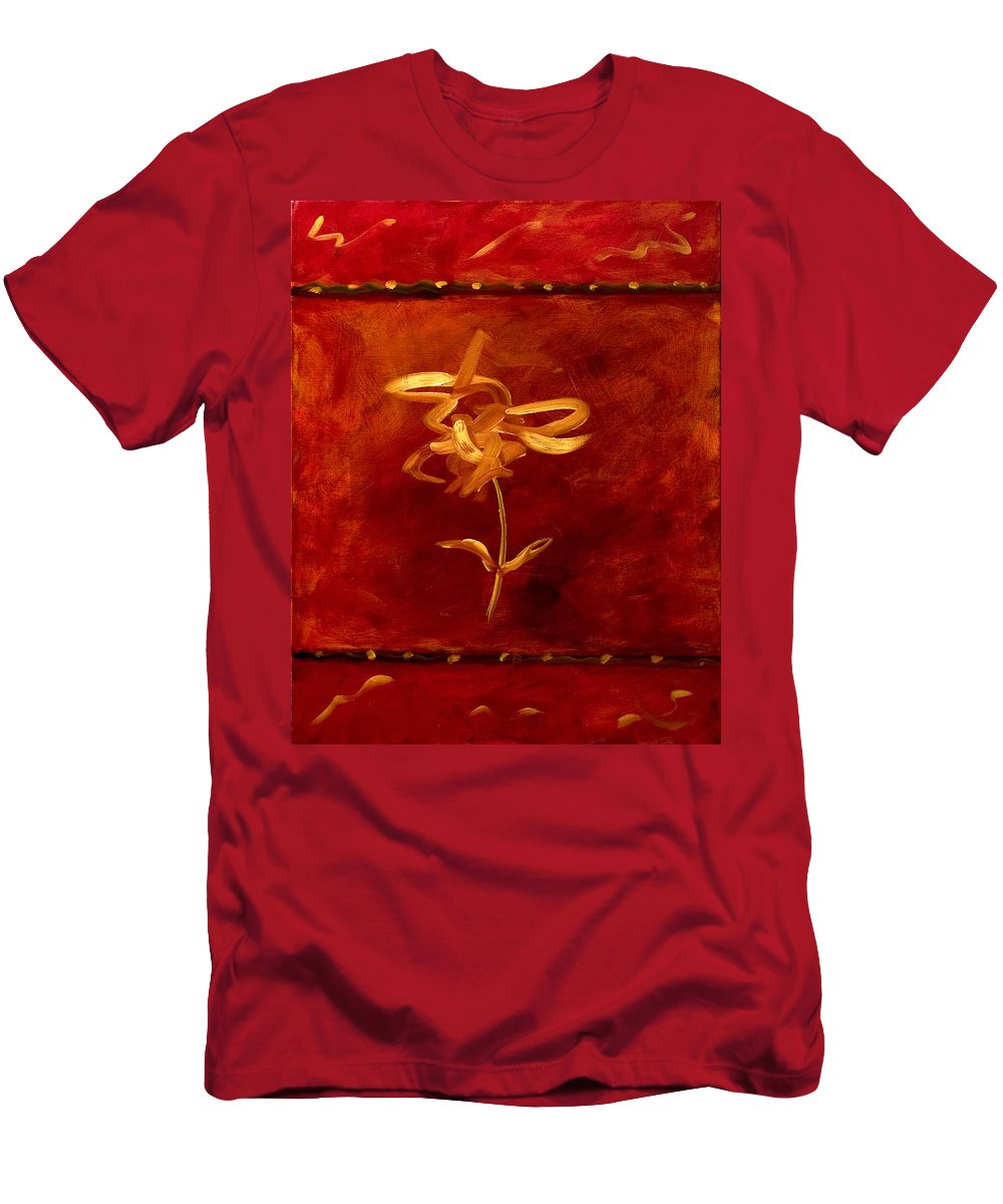 Abstract Men's T-Shirt (Athletic Fit) featuring the painting Confidence by Shannon Grissom