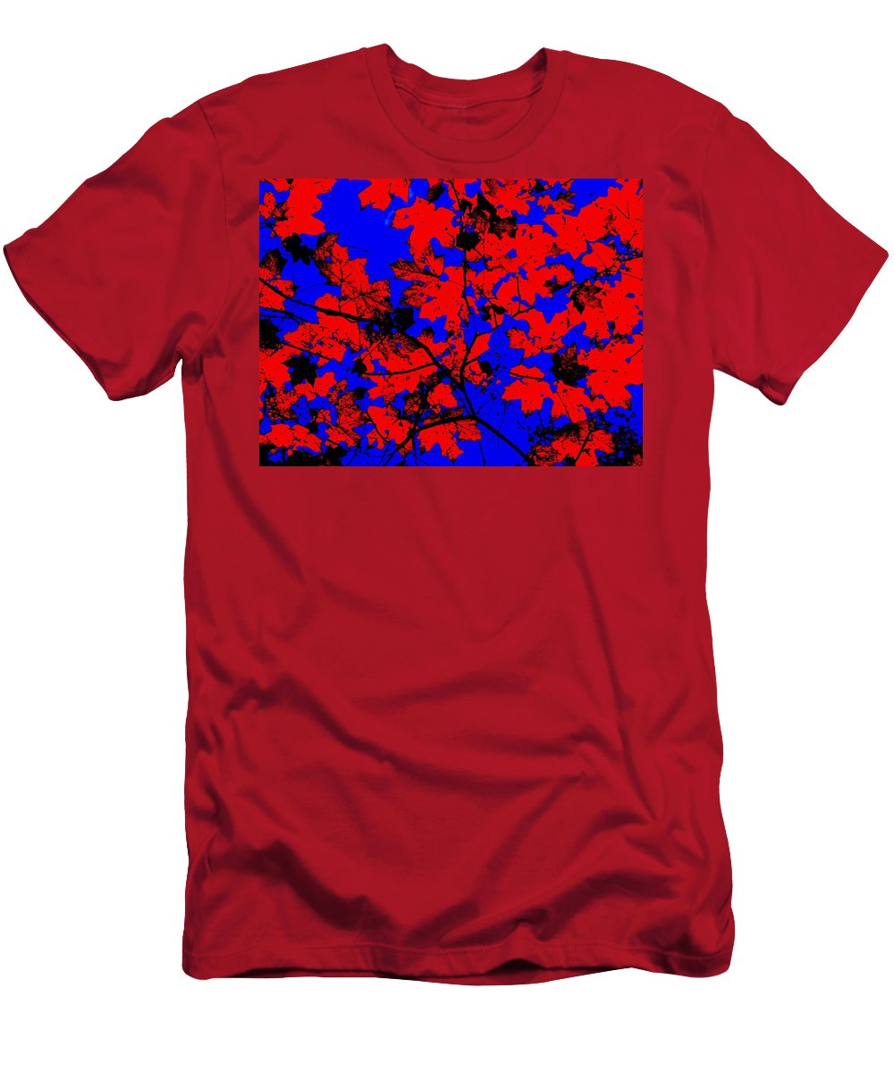 Leaves Men's T-Shirt (Athletic Fit) featuring the photograph Cookie Cutters by Ed Smith