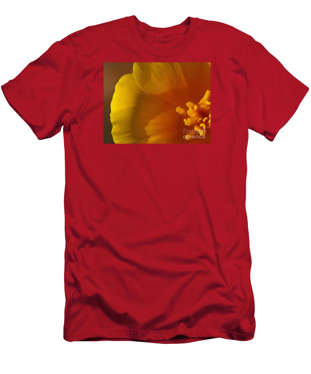 Poppy Men's T-Shirt (Athletic Fit) featuring the photograph Copa De Oro - Subdued by Linda Shafer