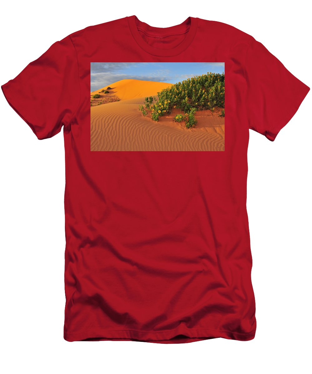Coral Morning Men's T-Shirt (Athletic Fit) featuring the photograph Coral Morning by Skip Hunt