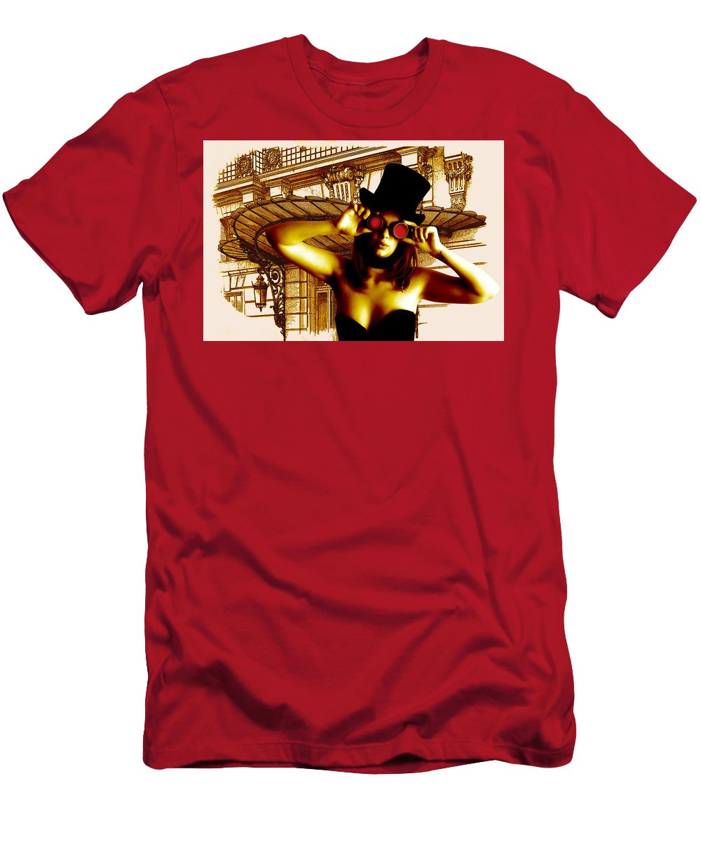 Court Men's T-Shirt (Athletic Fit) featuring the digital art Courtney Waiting by Bill Munster