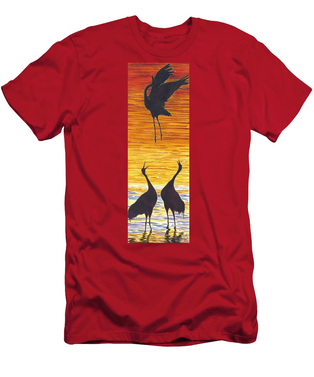 Crane Men's T-Shirt (Athletic Fit) featuring the painting Crania by Catherine G McElroy