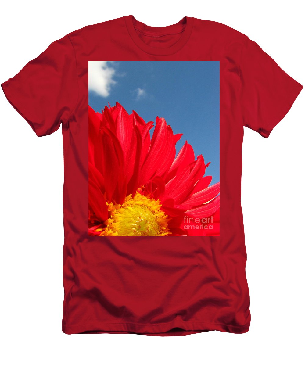 Dahlia Men's T-Shirt (Athletic Fit) featuring the photograph Dahlia by Amanda Barcon