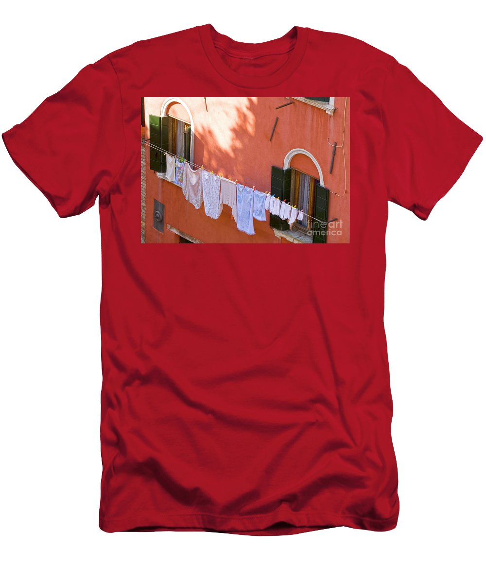 Heiko Men's T-Shirt (Athletic Fit) featuring the photograph Daily Life In Venice by Heiko Koehrer-Wagner
