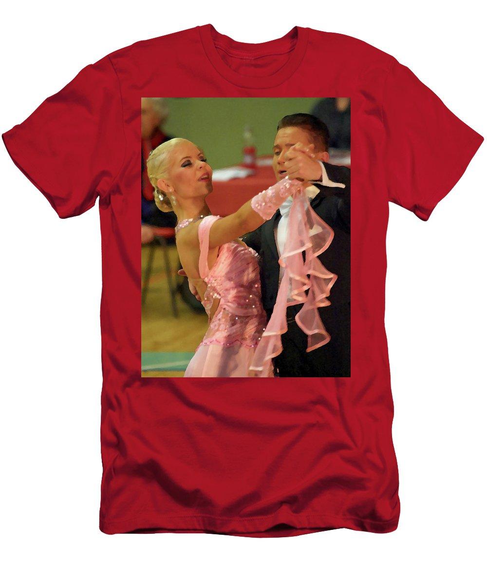Lehtokukka Men's T-Shirt (Athletic Fit) featuring the photograph Dance Contest Nr 19 by Jouko Lehto