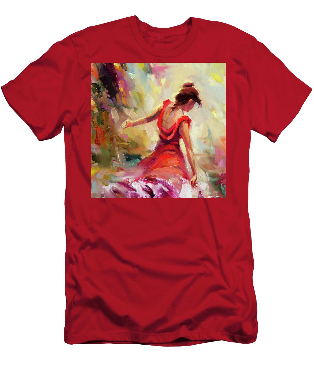 Dancer Men's T-Shirt (Athletic Fit) featuring the painting Dancer by Steve Henderson