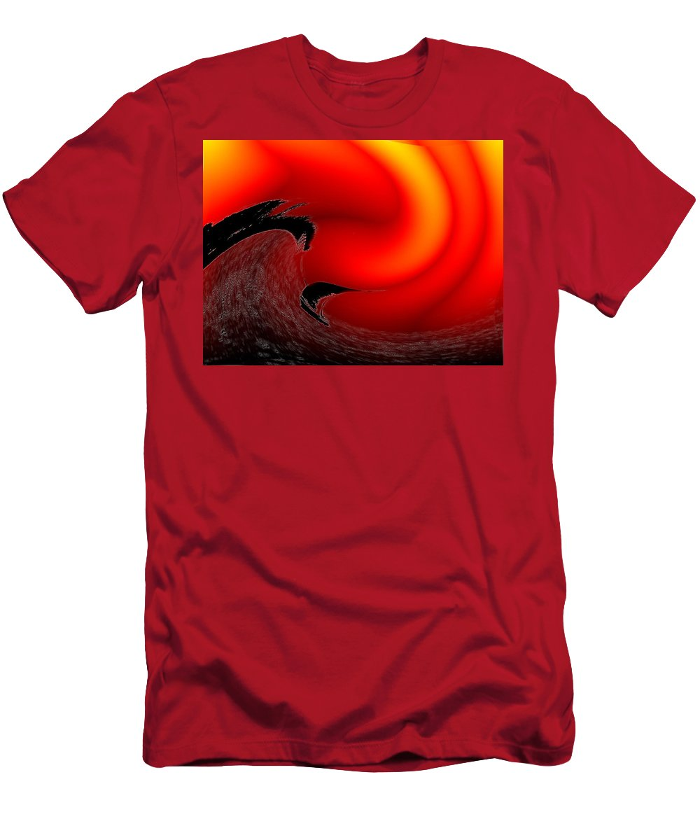 Danger Men's T-Shirt (Athletic Fit) featuring the photograph Dangerous Waters Off Alki by Tim Allen