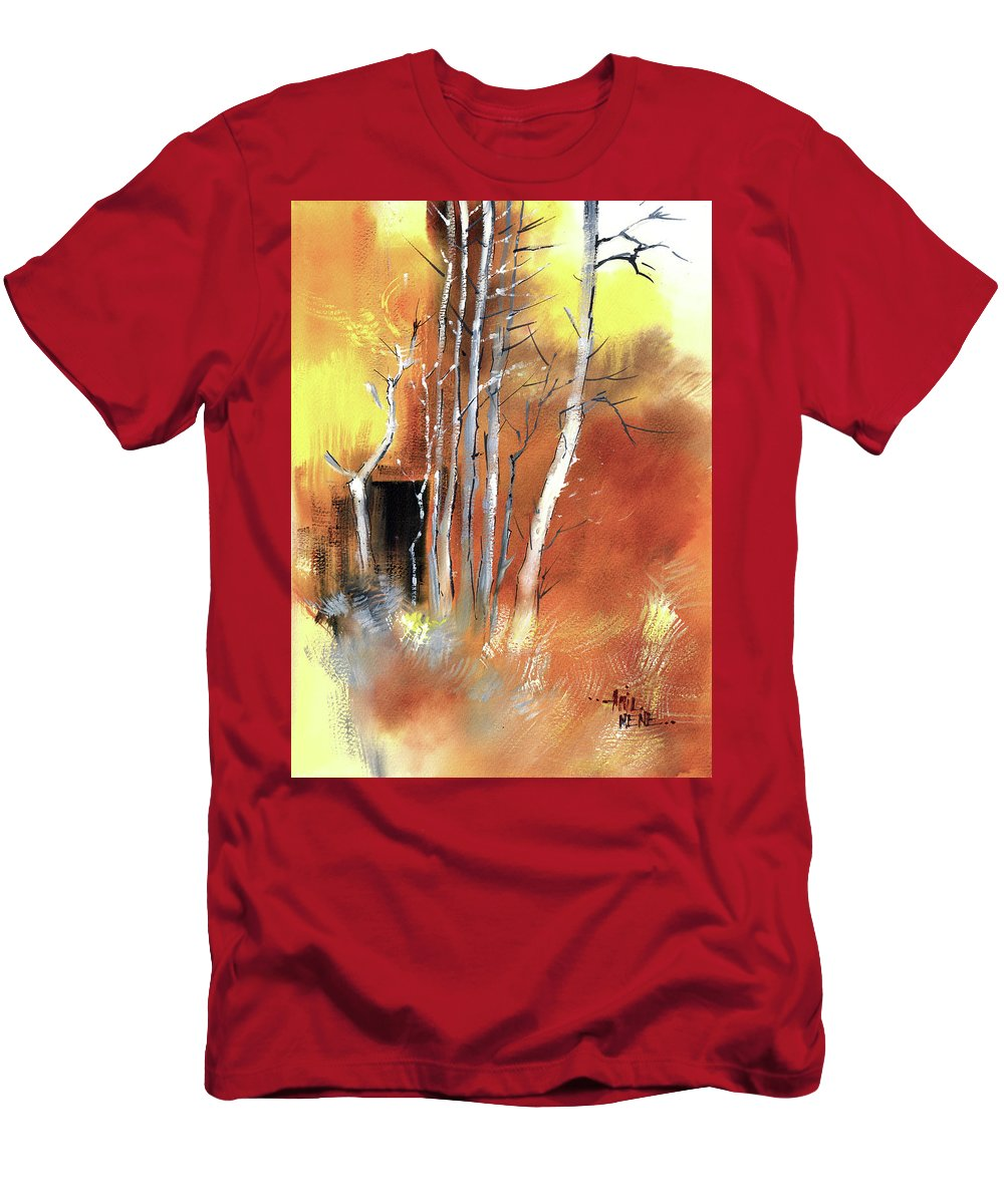 Nature T-Shirt featuring the painting Day Dream by Anil Nene