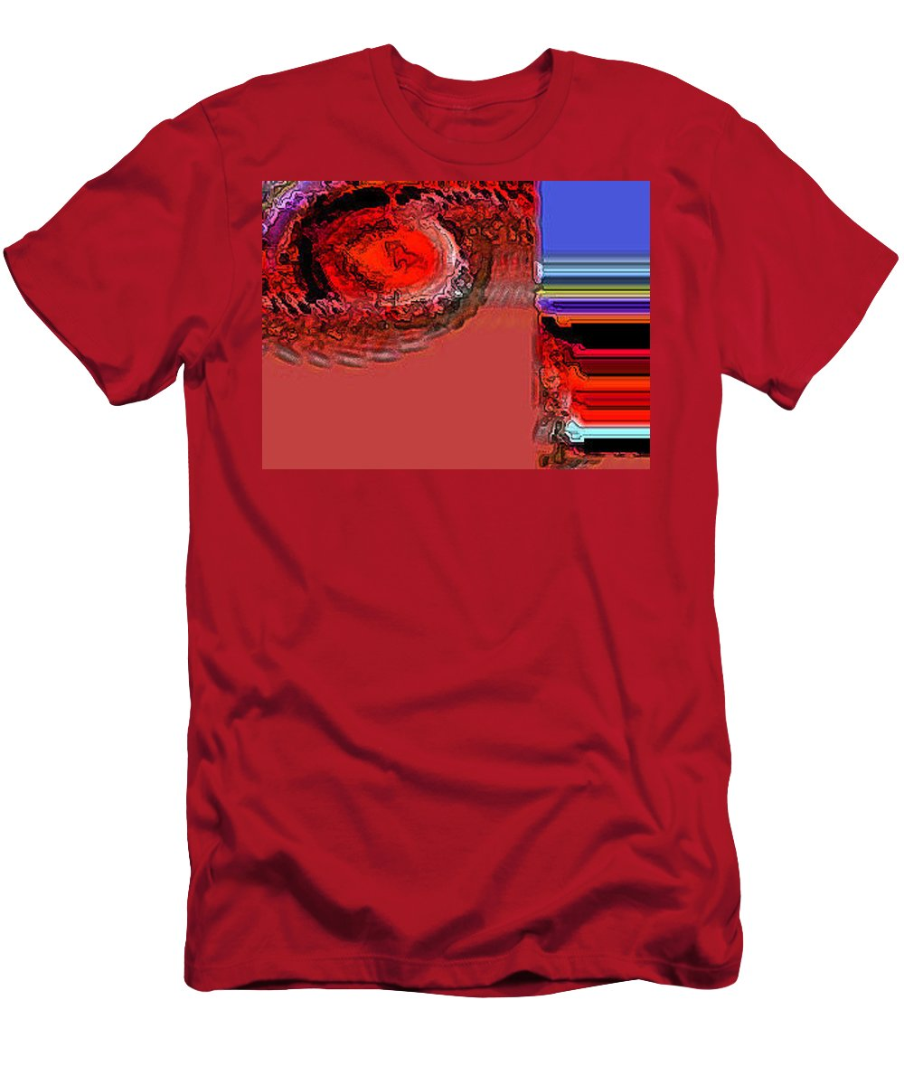 Abstract Men's T-Shirt (Athletic Fit) featuring the digital art Day The Sun Burns Up by Lenore Senior