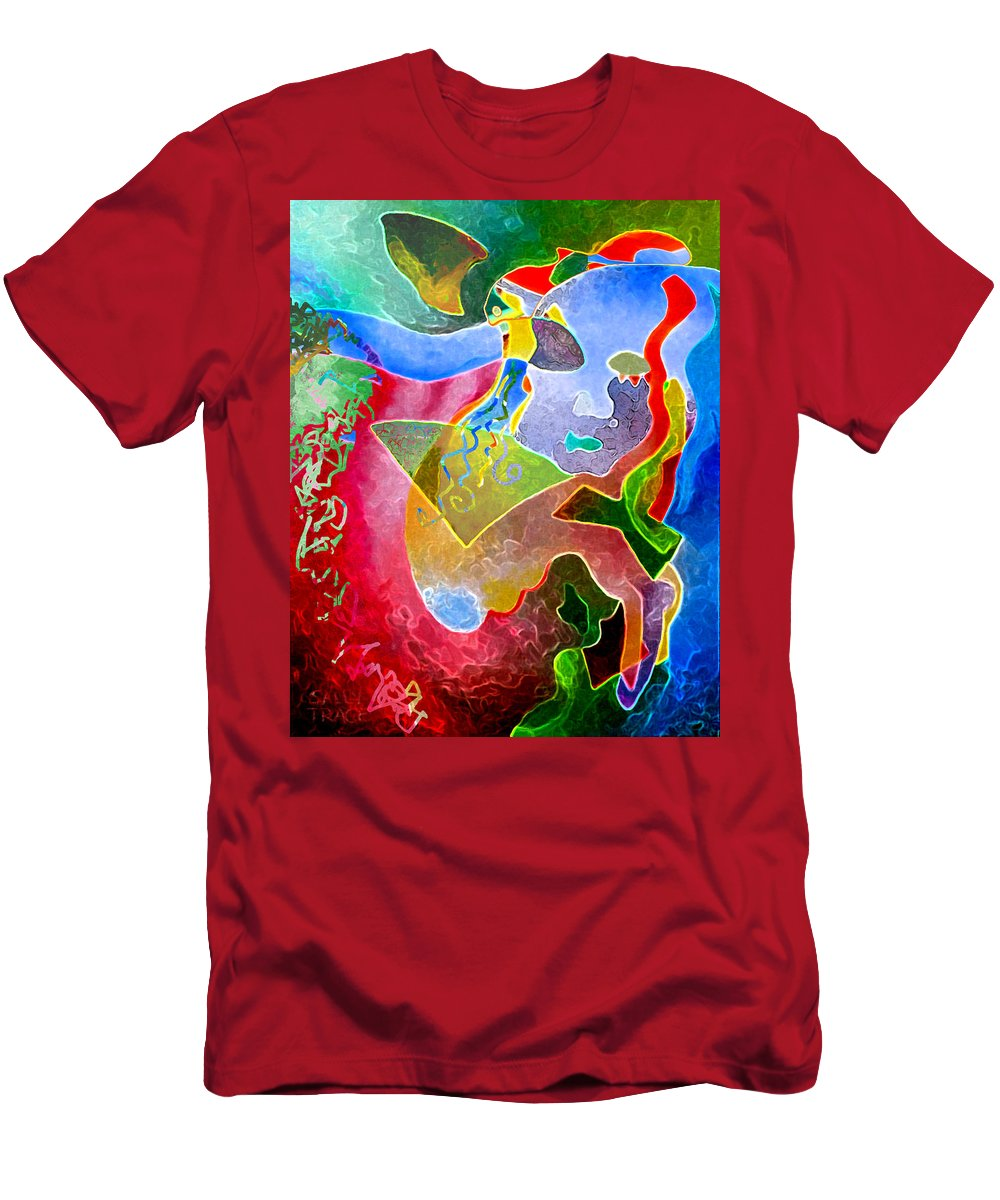Coffee Men's T-Shirt (Athletic Fit) featuring the painting Daydreams by Sally Trace