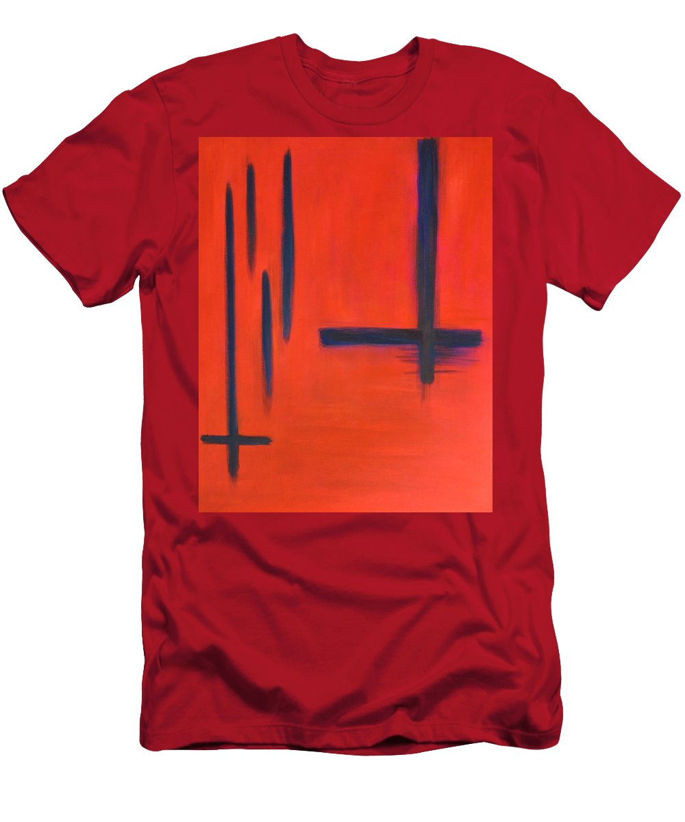 Contemporary Men's T-Shirt (Athletic Fit) featuring the painting Decisions Decisions by Marla McPherson
