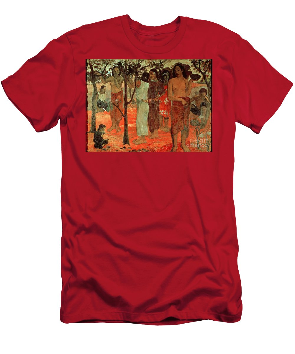 Nave Nave Mahana (delightful Days) Men's T-Shirt (Athletic Fit) featuring the painting Delightful Days by Paul Gauguin