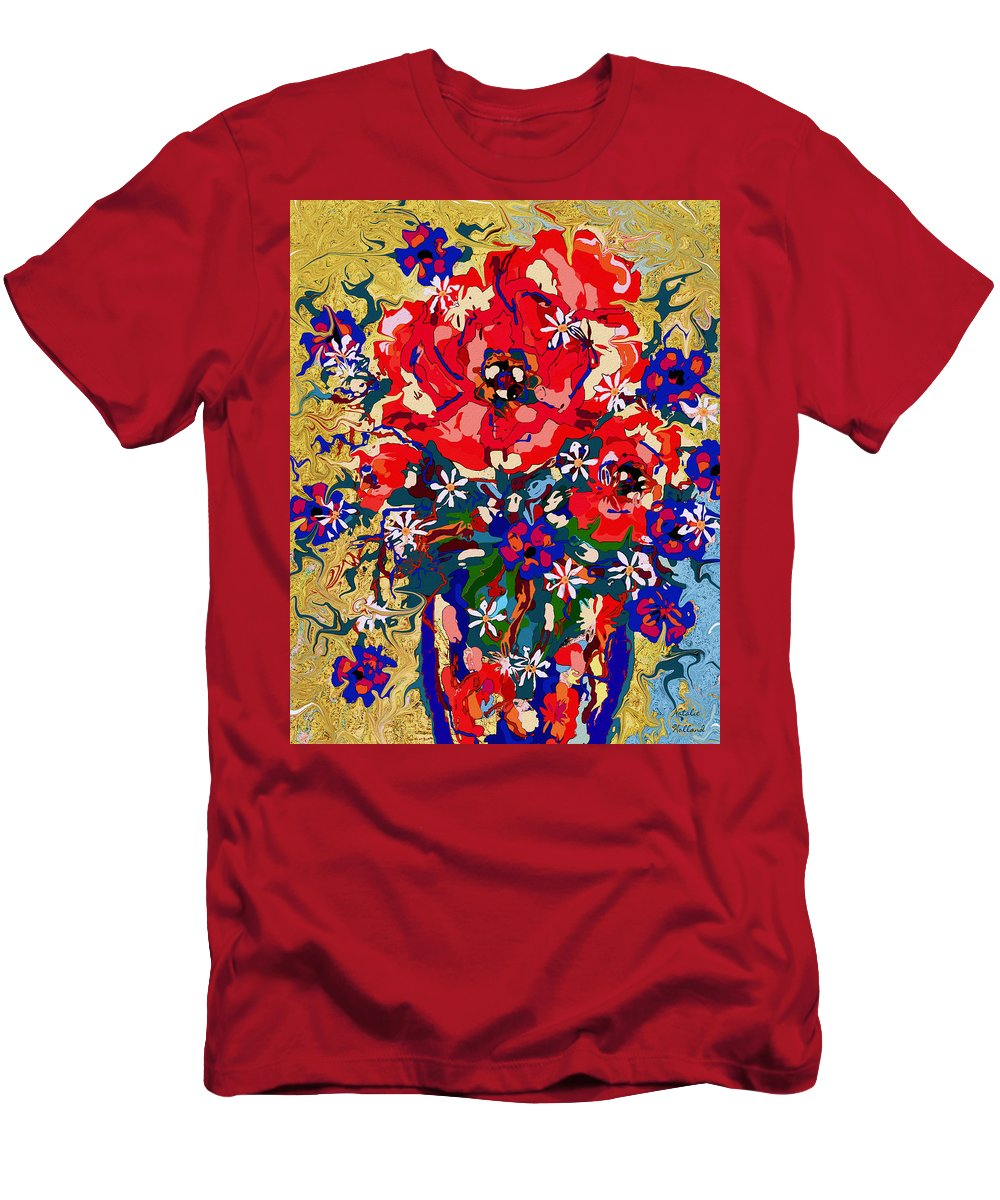 Flowers Men's T-Shirt (Athletic Fit) featuring the mixed media Delightful Flowers by Natalie Holland