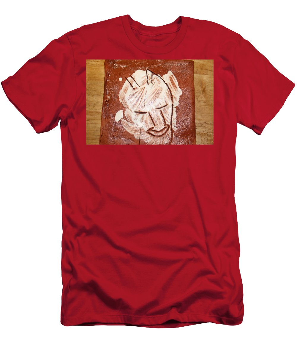 Jesus Men's T-Shirt (Athletic Fit) featuring the ceramic art Derek - Tile by Gloria Ssali