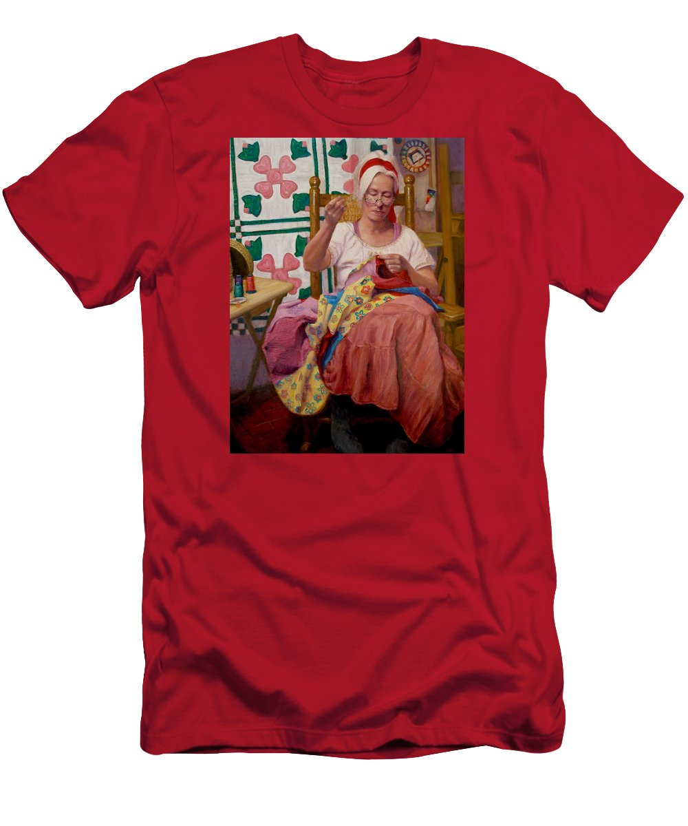 Realism Men's T-Shirt (Athletic Fit) featuring the painting Desert Rose by Donelli DiMaria