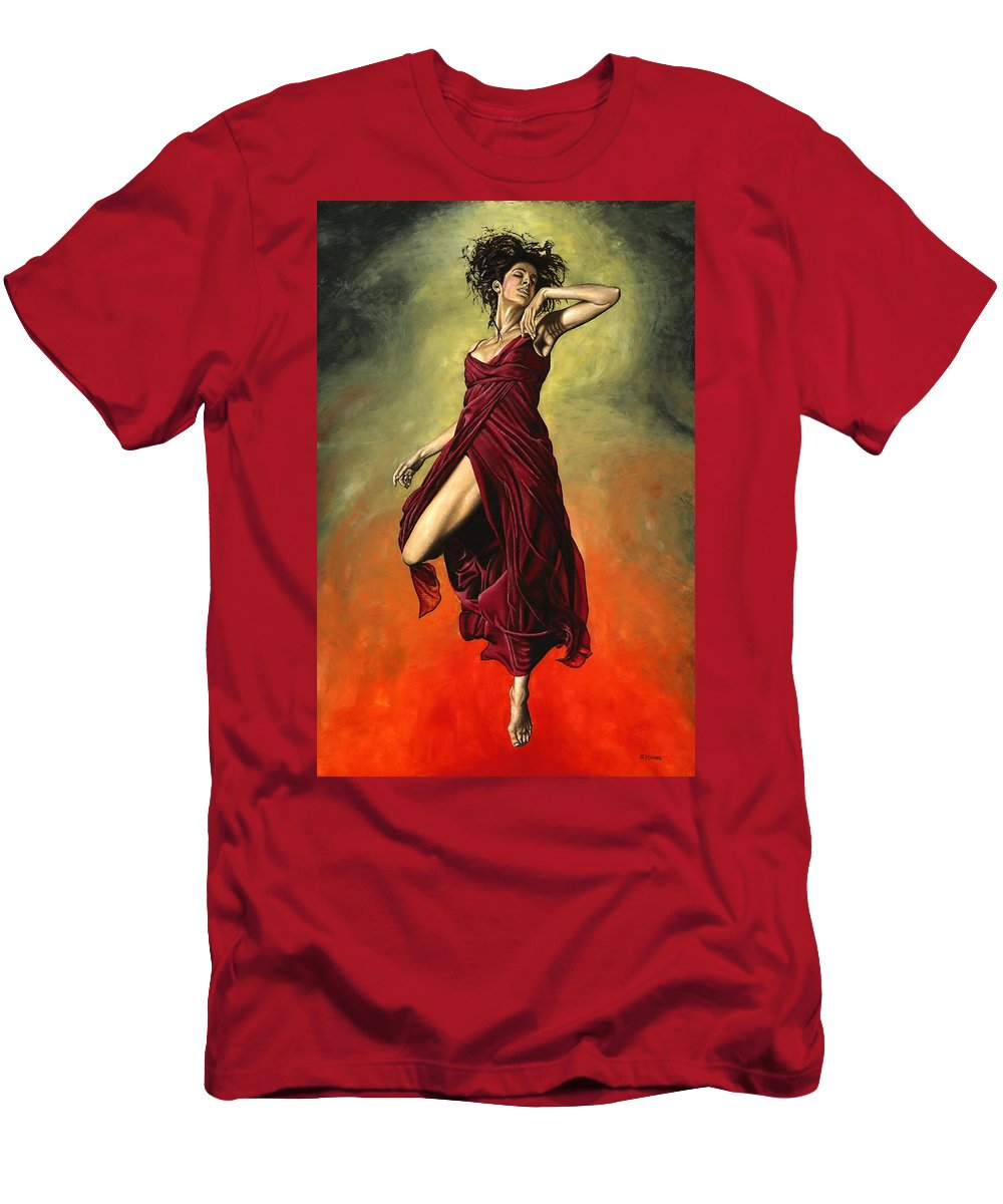 Dance Men's T-Shirt (Athletic Fit) featuring the painting Destiny's Dance by Richard Young