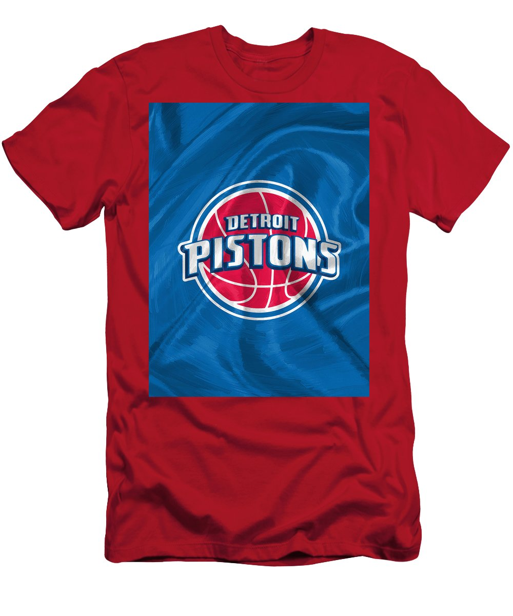 Detroit Pistons Men's T-Shirt (Athletic Fit) featuring the digital art Detroit Pistons by Afterdarkness