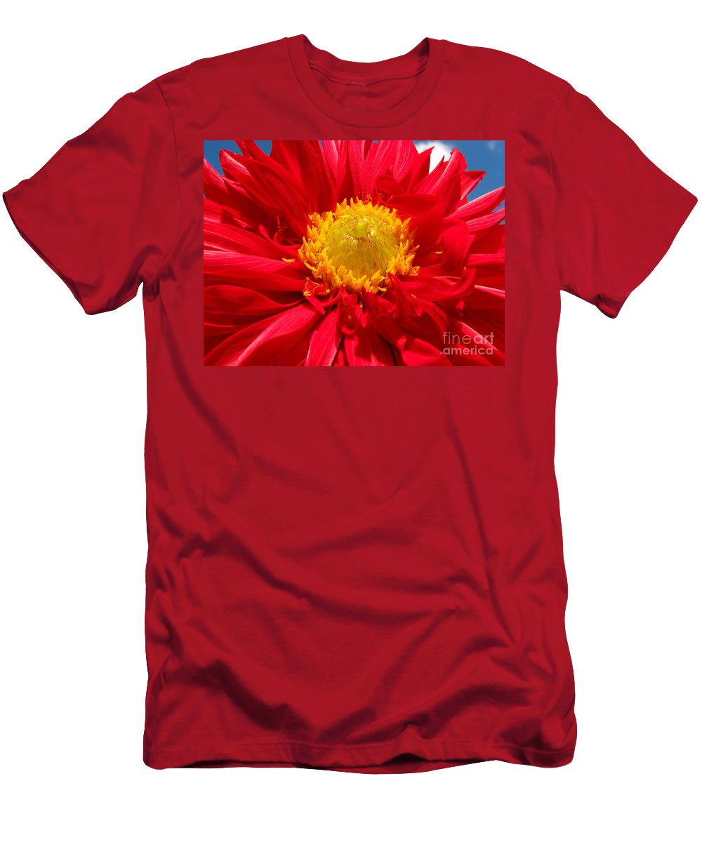 Dhalia Men's T-Shirt (Athletic Fit) featuring the photograph Dhalia by Amanda Barcon
