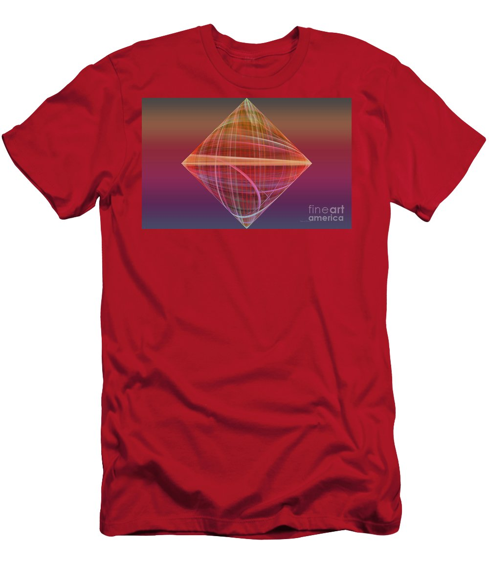 Fractal Men's T-Shirt (Athletic Fit) featuring the photograph Diamond Ripple by Deborah Benoit