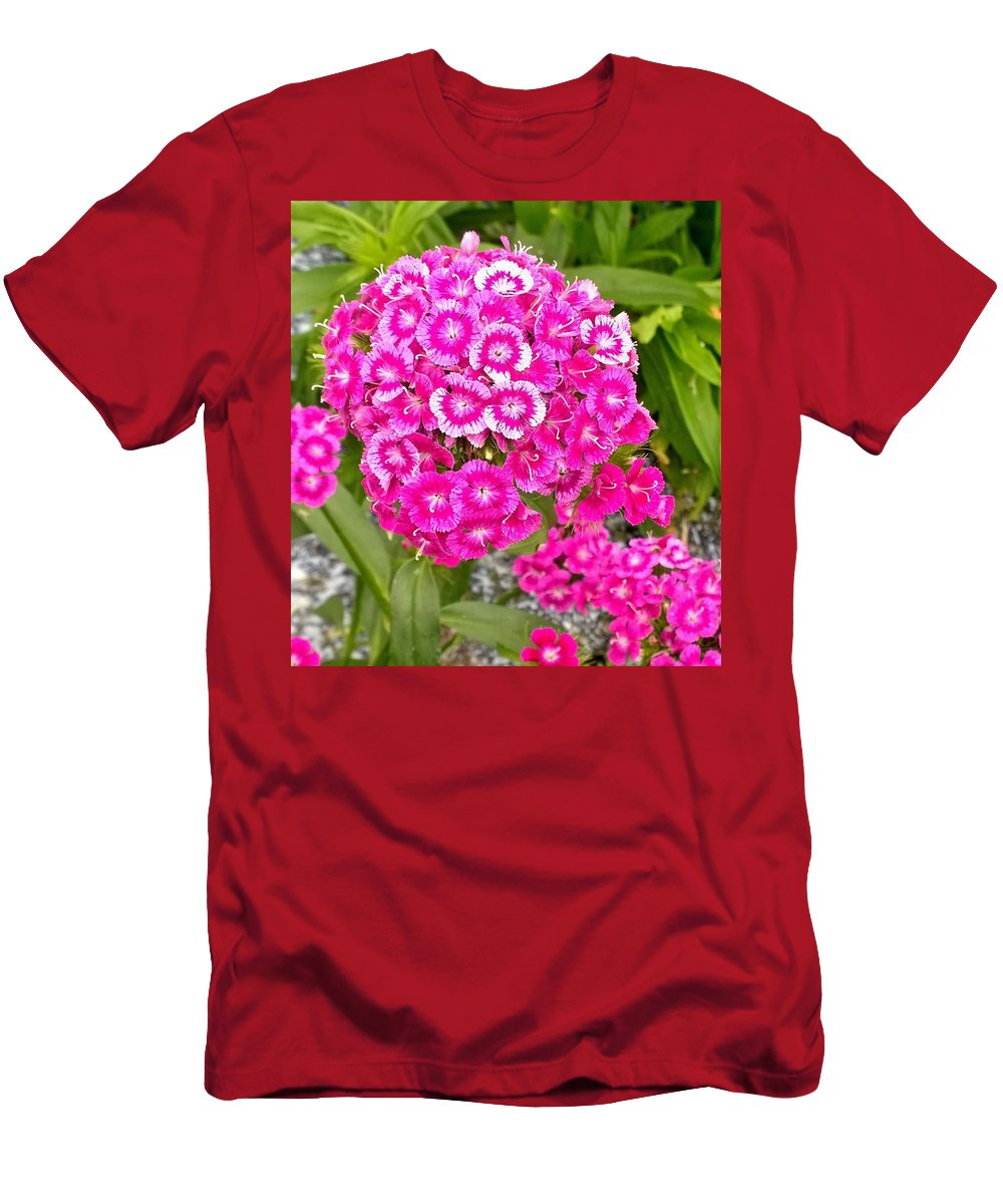 Flowers Men's T-Shirt (Athletic Fit) featuring the photograph Dianthus by Gayle Miller