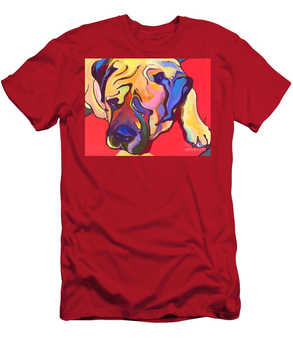 Mastiff Men's T-Shirt (Athletic Fit) featuring the painting Diesel  by Pat Saunders-White