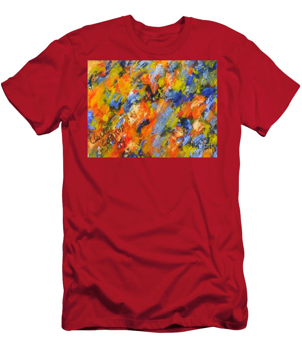 Diptych Men's T-Shirt (Athletic Fit) featuring the painting Diptych Part 2 by Claire Gagnon