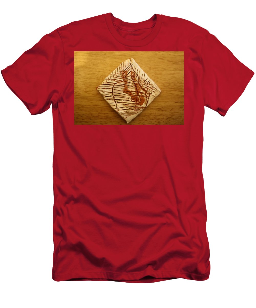 Jesus Men's T-Shirt (Athletic Fit) featuring the ceramic art Dizzy - Tile by Gloria Ssali
